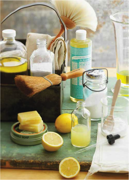 Deep green clean your carpet with natural cleaners like baking soda, lemon, and Castile soap.