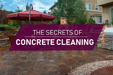how to clean concrete